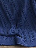 Покрывало вязаное  170x240 BETIRES bremen navy blue, фото 3