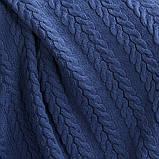 Покрывало вязаное  170x240 BETIRES bremen navy blue, фото 4