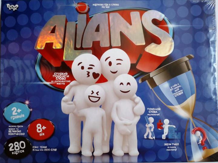 Настільна гра на час в слова «Alians» (Danko Toys)