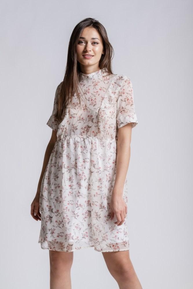 Платье женское летнее размер М (Молочный)
