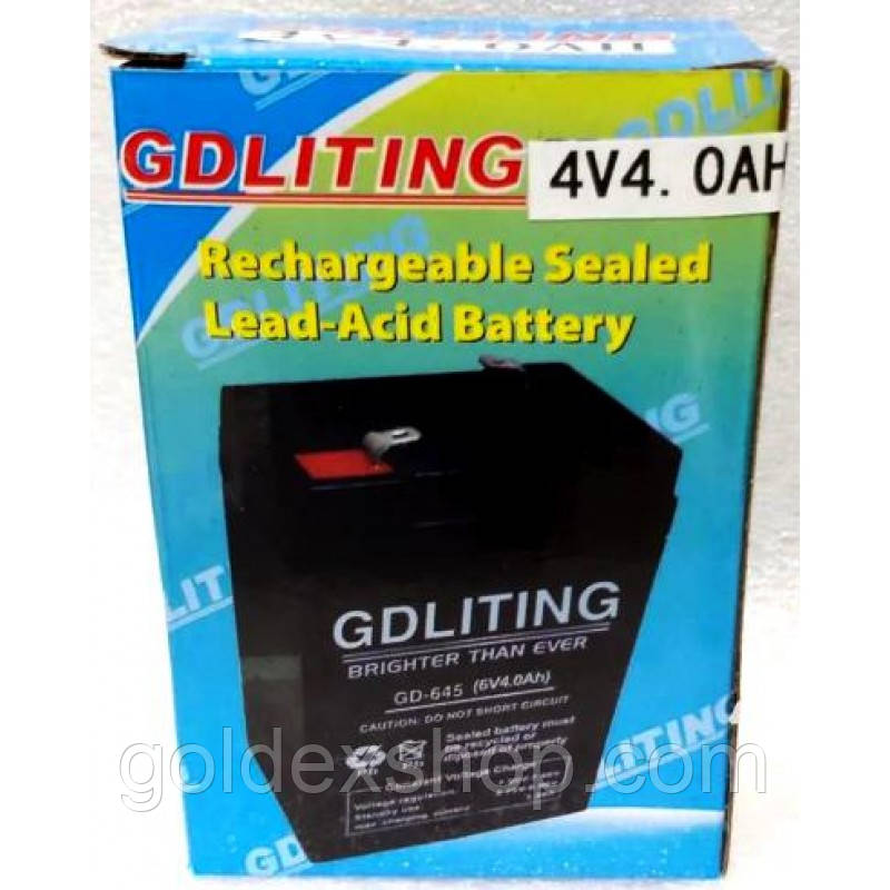 Аккумулятор GD-440 GDLITING 4V 4.0AH (4 вольт, 4Ач)