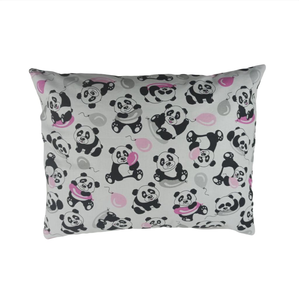 Подушка, 45*35 см, (хлопок), (панды с шарами)