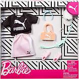 Одяг для ляльок Барбі Puma Fashion Black Top, Pink Skirt, фото 2