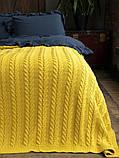 Покривало в'язане 220x240 BETIRES BREMEN mustard, фото 2