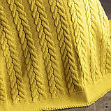 Покривало в'язане 220x240 BETIRES BREMEN mustard, фото 3