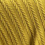 Покривало в'язане 220x240 BETIRES BREMEN mustard, фото 4