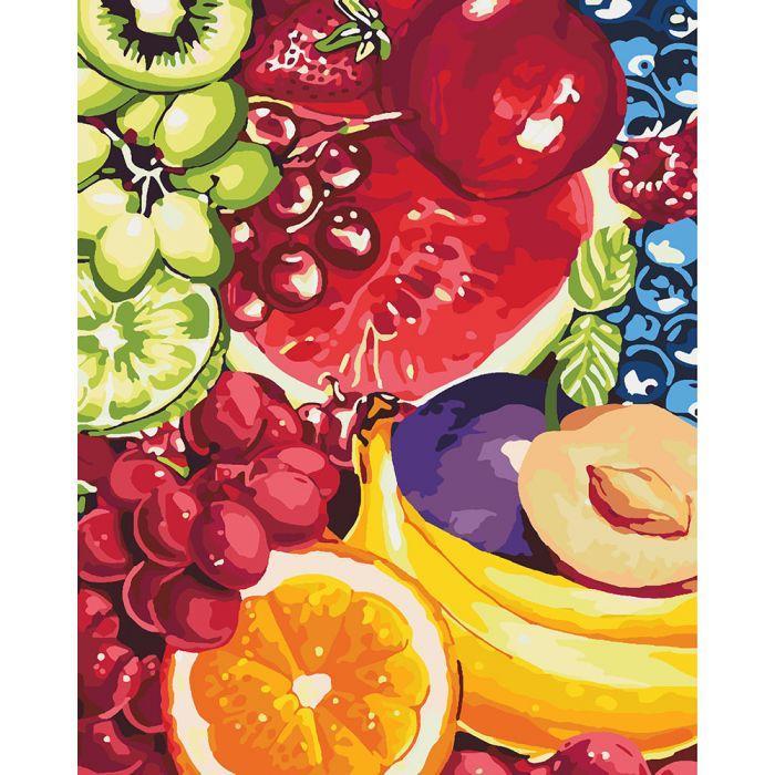 """Набір для розпису по номерах. Квiти """"Солодкі фрукти"""" 40*50см"""