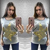 Женская удлиненная футболка-туника в 3 расцвеках: желтая, серая, белая