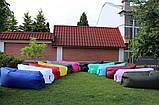 Надувной лежак кресло мешок Ламзак Розовый, фото 8