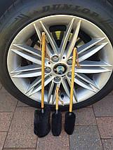WW000 Набір очищувальних щіток для дисків, чорно-коричневий - Flexipads Wheel Whoolie Wands, 3 шт., фото 2