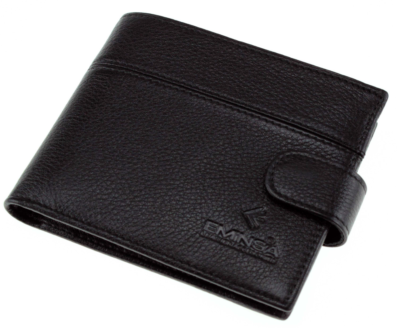 Чоловіче шкіряне портмоне чорне Eminsa 1027-12-1