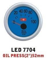 Дополнительный прибор Ket Gauge LED 7704 давление масла. Дополнительный прибор