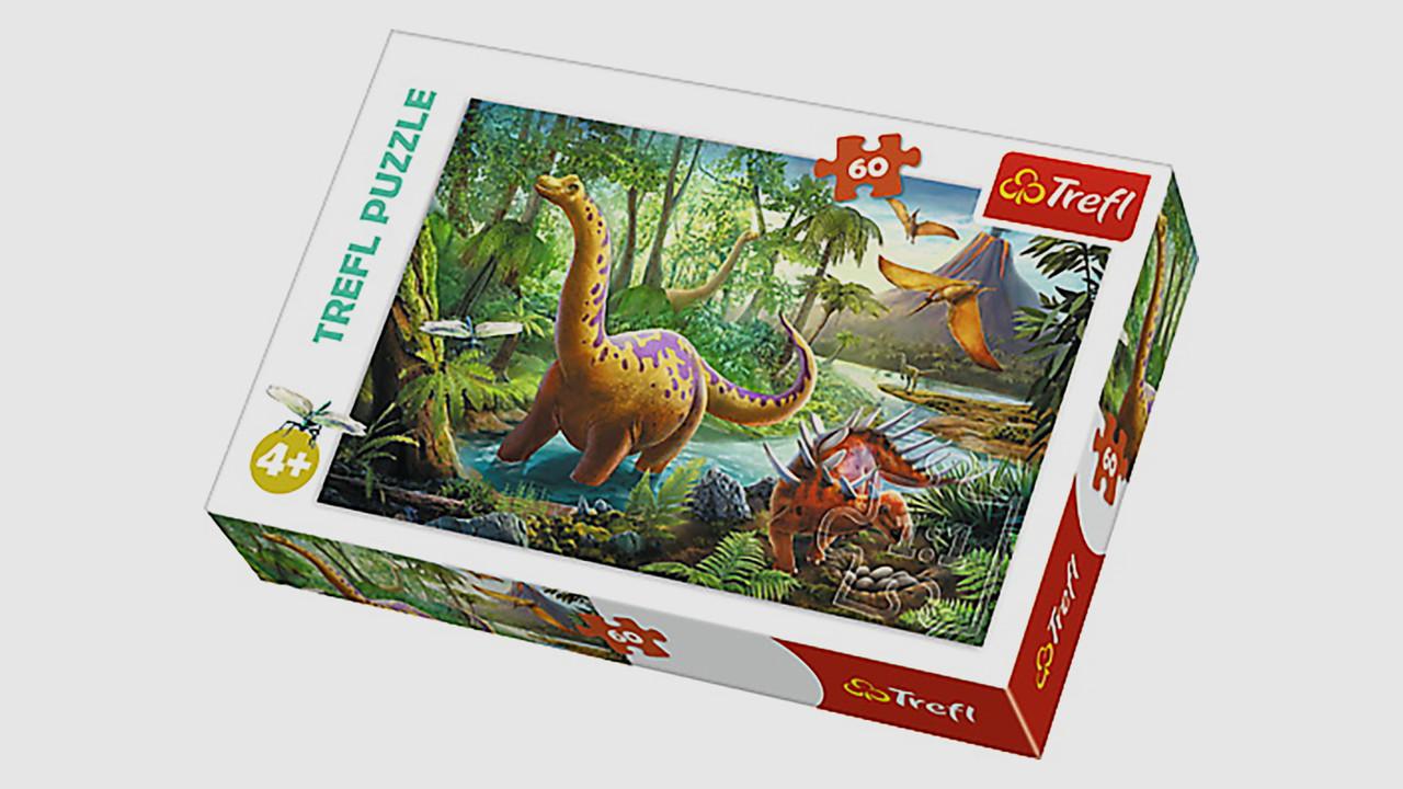 Пазлы Миграция динозавров Trefl 17319. 60 элементов