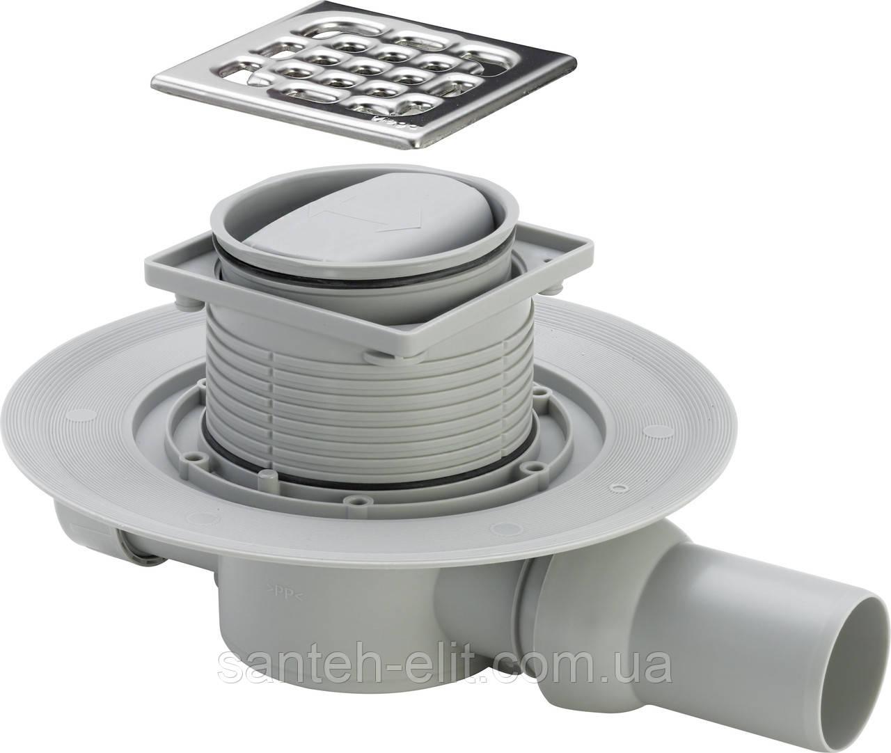 ADVANTIX трап для ванной, сухой затвор, горизонтальный D50