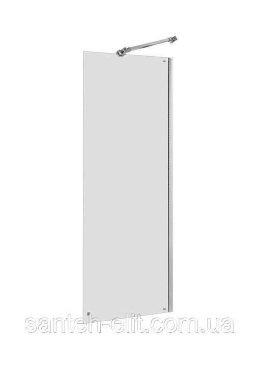 CAPITAL стенка душевая 90*195см, алюминиевый хром. профиль