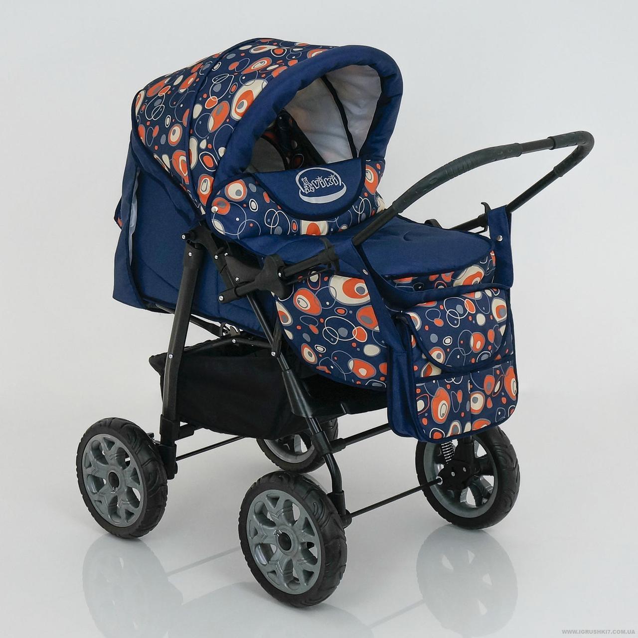 Детская коляска-трансформер Viki 86- C 130 АБСТРАКЦИЯ Гарантия качества Быстрая доставка