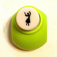 Дырокол Танцовщица 1 см кнопка