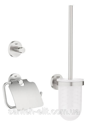 Essentials набор аксессуаров 3в1: ершик, крючок, держатель туалетной бумаги