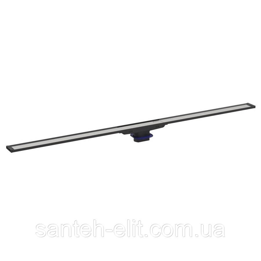 CLEANLINE 20 дренажный канал, L30-90см, тёмный/матовый металл