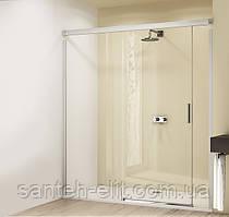 DESIGN ELEGANCE дверь раздвижная  160х190 см (проф гл хром,стекло прозр Antipl) Функция Soft-Open-/Soft-Close
