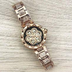 Часы женские наручные Forsining Flower Diamonds Cuprum-Black ( ABR-1059-0031)