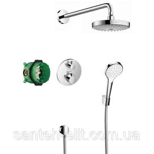 SHOWERSET Croma Select S/Ecostat S душевой набор: верхний, ручной душ, ibox, термостат