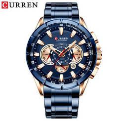 Часы мужские наручные Curren 8363 Blue-Cuprum ( ABR-1008-0178)