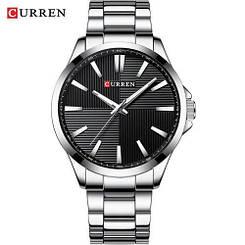 Часы мужские наручные Curren 8322 Silver-Black ( ABR-1008-0182)