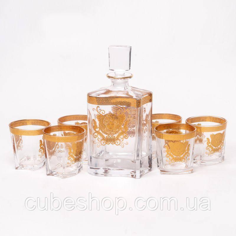 Набір для віскі Sunshine Gold (графин + 6 стаканів)