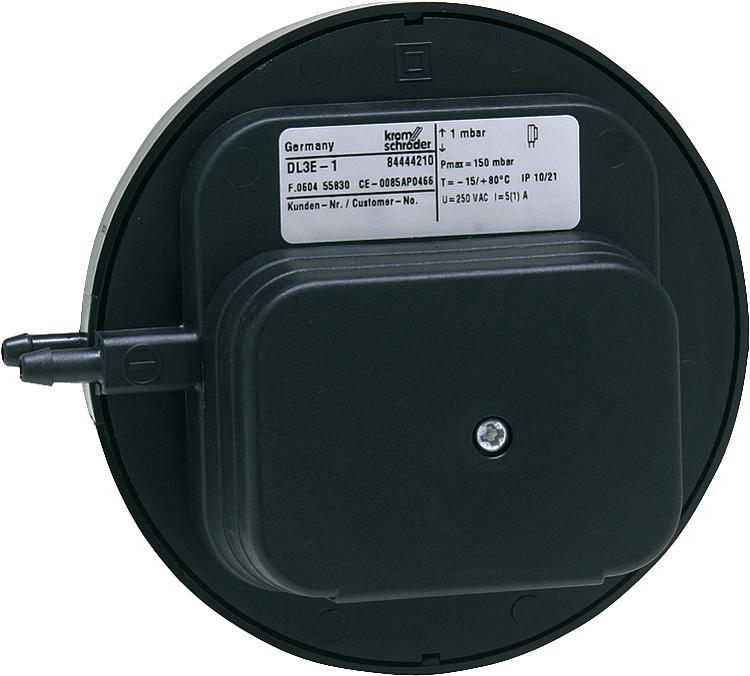 Датчик-реле давления воздуха DL 3E Kromschroder (Honeywell), 0,3 - 3 mbar