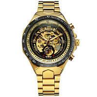 Мужские наручные часы Winner 8067 Gold-Black-Black Red Cristal ABR-1099-0013