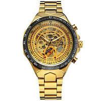 Мужские наручные часы Winner 8067 Gold-Black-Gold Red Cristal ABR-1099-0014