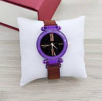 Часы женские наручные Geneva QSF-002 Purple-Black Shine ( ABR-1010-0317)
