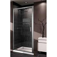 Huppe X1 дверь 100см распашная для ниши и боковой стенки, профиль глянцевый хром, стекло прозрачное