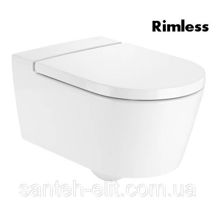 INSPIRA Round Rimless унитаз подвесной 37*56*44см, круглый, горизонтальный выпуск