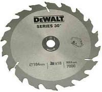 Диск пильный DeWALT 184х16мм 18 зубов (DT1938)