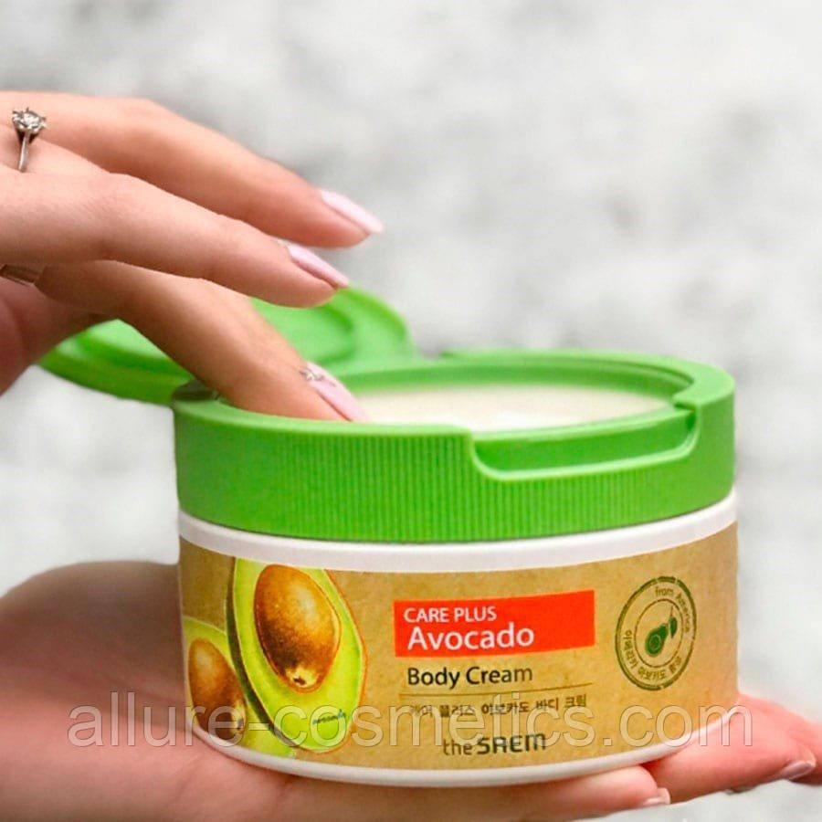 Живильний крем для обличчя та тіла з екстрактом авокадо The Saem Care Plus Avocado Body Cream 300 ml
