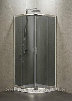 BALATON душевая кабина 90*90*185 см, профиль хром,стекло тонированное 6мм (стекла+двери)
