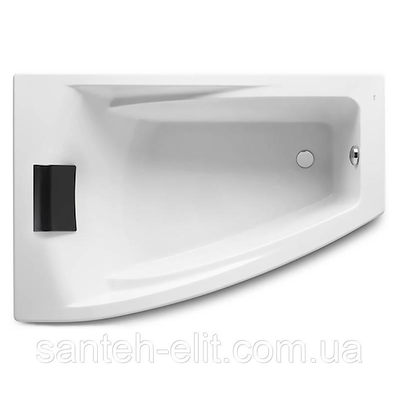 HALL ванна 150*100см угловая, левая версия, с интегр. подлокотниками, с подголовником и регулир. ножками