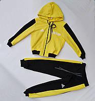 Спортивный костюм на мальчика от 2 до 6 лет желтый с черным 21006