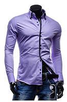 Мужская рубашка Флорида Фиолетовая 42р., фото 1