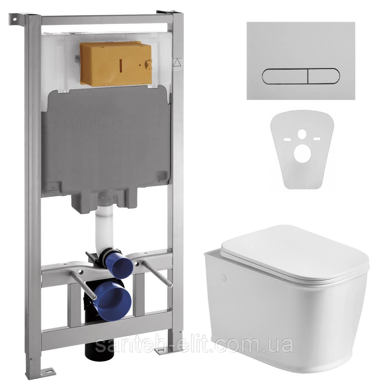 Комплект: унітаз підвісний VOLLE PUERTA з сидінням + інсталяція VOLLE MASTER (13-16-077 + 141515)