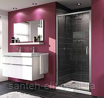 Huppe X1 дверь 90*190см распашная для ниши и боковой стенки, профиль глянцевый хром, стекло прозрач