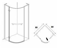Півкруглі душові кабіни Aqua Simple 80х80