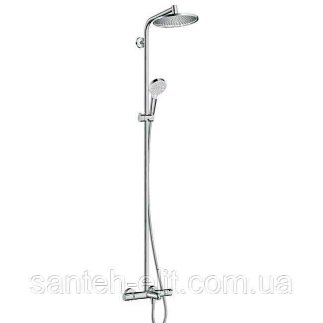 Душевая система Hansgrohe Crometta E S 240 Showerpipe для ванны  (27320000)