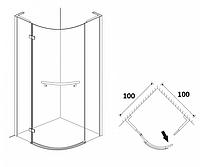 Півкруглі душові кабіни Aqua Simple 100х100