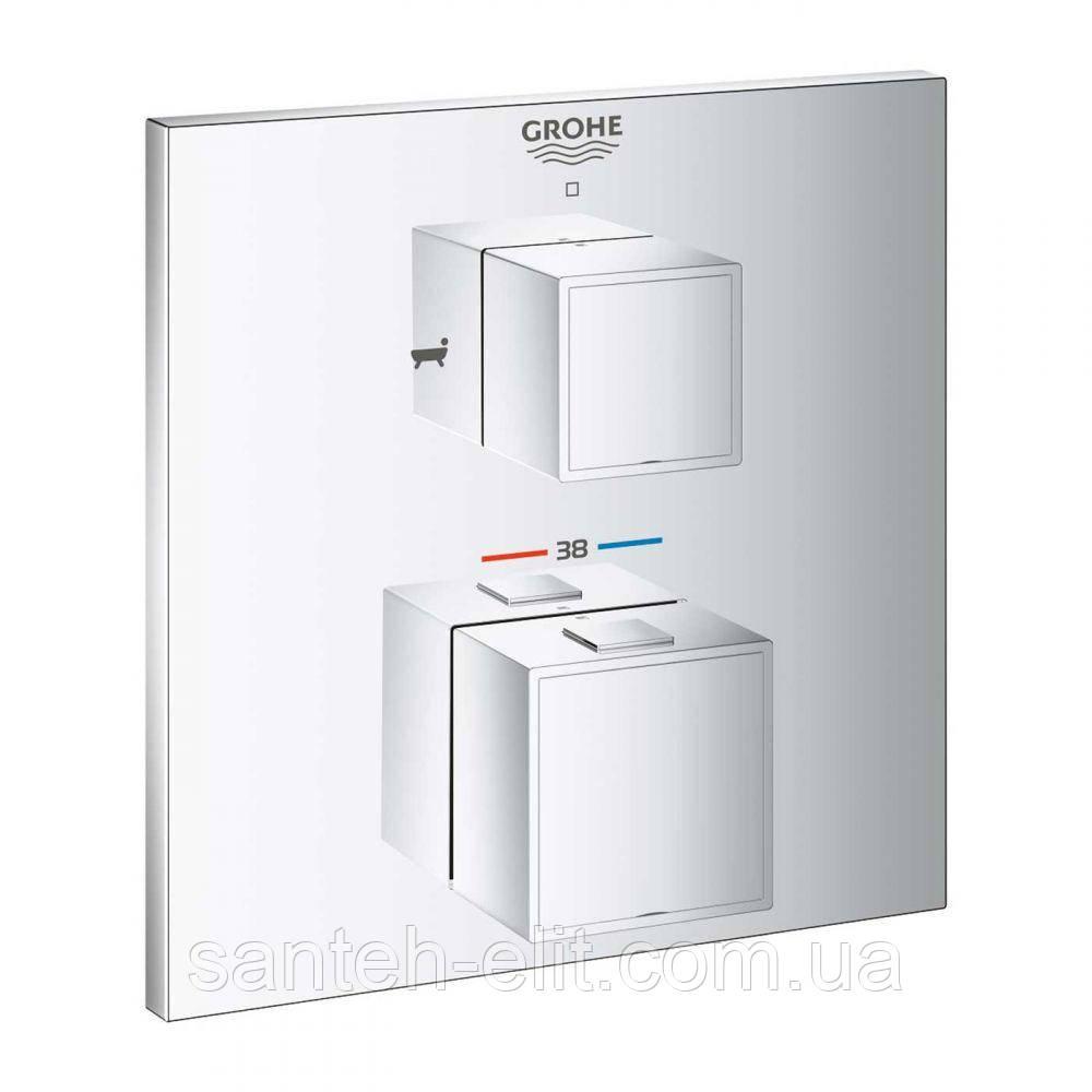 Grohe GROHTHERM Cube термостат для ванны с переключателем на 2 положения 24155000