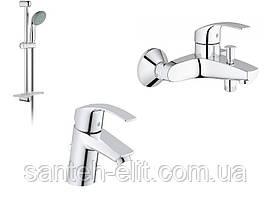 Grohe EUROSMART набор смесителей для ванны (33265002+33300002+27926000) 123238 S