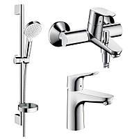 Hansgrohe FOCUS набор смесителей для ванны (31607000+31940000+26553400)