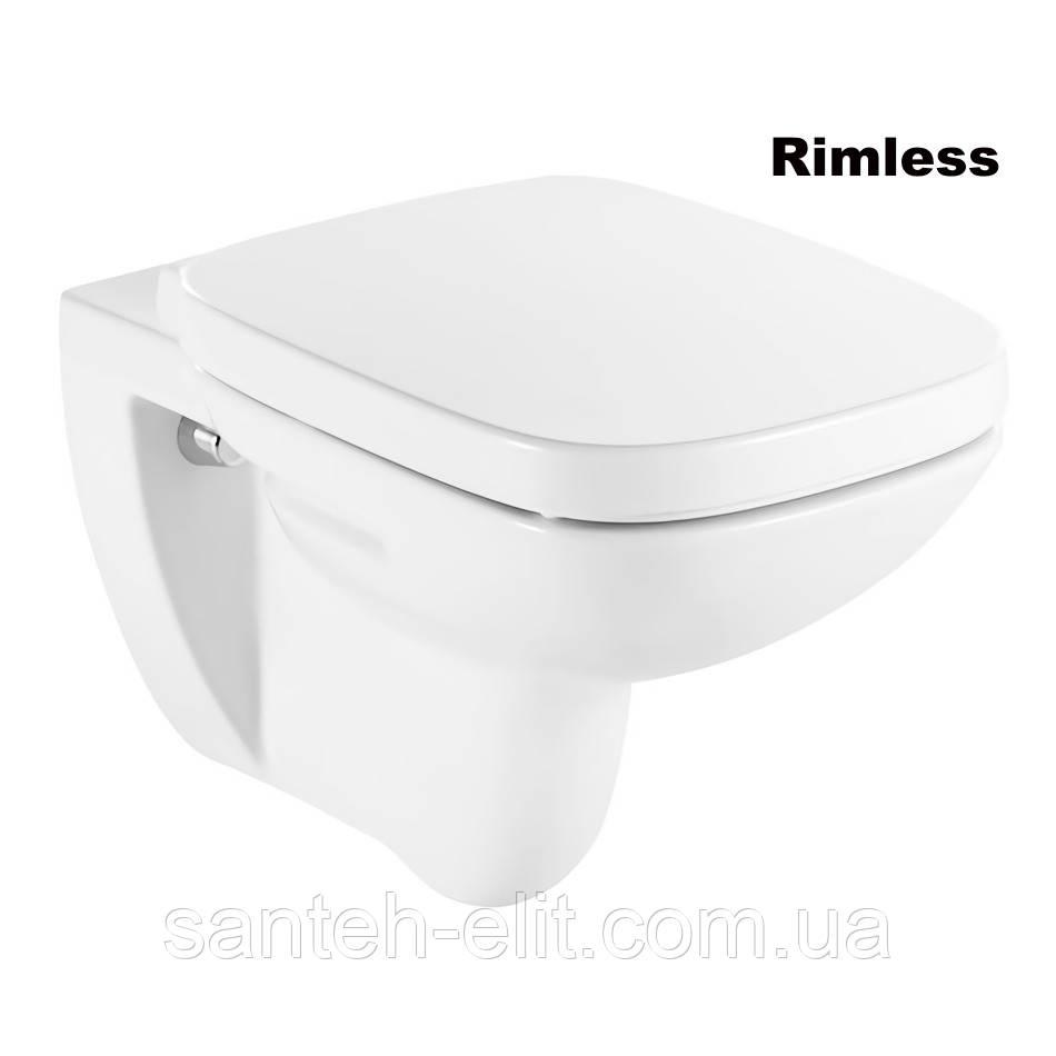 DEBBA Rimless унитаз подвесной, с сиденьем (в упак.)